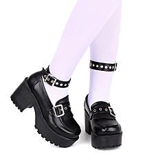 baratos -Mulheres Sapatos Punk Salto Plataforma Sapatos Sólido 8 cm Preto Tinta Azul Vermelho Pele Falsa Trajes de Halloween