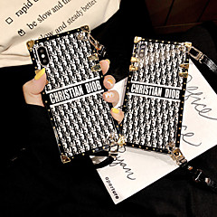 cheap -Case For Apple iPhone XS / iPhone XR / iPhone XS Max /X/6/7/8/6Plus/7Plus/8Plus Shockproof / Pattern Back Cover Word / Phrase Metal