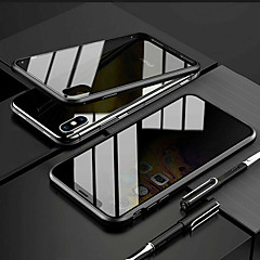 cheap -For iPhone X XS 7 8 360 Double Tempered Glass Anti-Spy Privacy Phone Case Cover