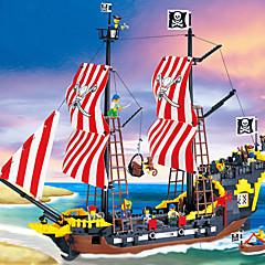 ราคาถูก -ENLIGHTEN บล็อกแม่เหล็ก แผ่นแม่เหล็ก Building Blocks Pirate เรือ ทุกเพศ เด็กผู้ชาย เด็กผู้หญิง Toy ของขวัญ