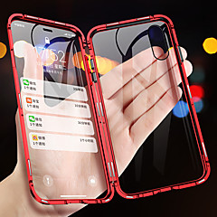 cheap -Magnetic Adsorption Metal Phone Case For iPhone XS Max XR XS X Double Sided Glass Magnet Cover For iPhone 8 Plus 8 7 Plus 7 6 Plus 6 Shockproof Cases