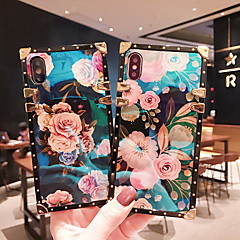 cheap -Case For Apple iPhone XS / iPhone XR / iPhone XS Max Shockproof / Pattern Back Cover Armor / Flower Metal