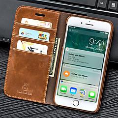 ราคาถูก -Case สำหรับ Apple iPhone 8 Plus / iPhone 8 / iPhone 7 Plus Wallet / Card Holder / with Stand ตัวกระเป๋าเต็ม สีพื้น หนัง PU