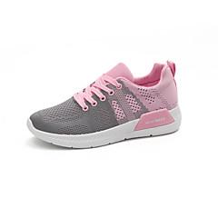 ราคาถูก -สำหรับผู้หญิง รองเท้าผ้าใบ ระบายอากาศ สบาย วิ่ง การฝึกอบรมที่ใช้งานอยู่ ฤดูใบไม้ร่วง สีบานเย็น แดง สีชมพู
