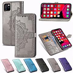 olcso -mandala dombornyomott pénztárca bőr flip telefontok iPhone 11-hez pro max xr xs max x 8 plus 8 7 plus 7 6 plus 6 kártyatartó állvány tokja