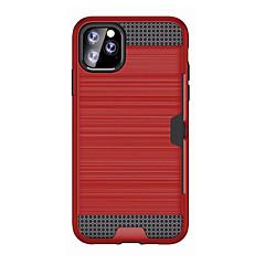 ราคาถูก -Case สำหรับ Apple iPhone 11 / iPhone 11 Pro / iPhone 11 Pro Max Card Holder / Shockproof ปกหลัง เกราะ พลาสติก