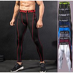 ราคาถูก -สำหรับผู้ชาย useless กางเกงรัดรูป Elastane กีฬา ฤดูหนาว การบีบอัดสูท ถุงน่องการขี่จักรยาน วิ่ง การออกกำลังกาย ยิมออกกำลังกาย ออกไปทำงาน Lightweight แห้งเร็ว ออกแบบตามสรีระ / ยืด