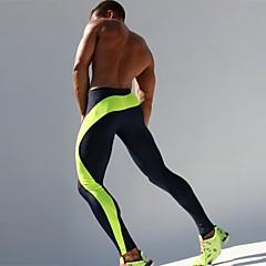 ราคาถูก -สำหรับผู้ชาย useless กางเกงรัดรูป Elastane ลายต่อ กีฬา การบีบอัดสูท ถุงน่องการขี่จักรยาน วิ่ง การออกกำลังกาย ยิมออกกำลังกาย ระบายอากาศ แห้งเร็ว Sweat-wicking ลายบล็อคสี สีเขียว ฟ้า / สกินนี่