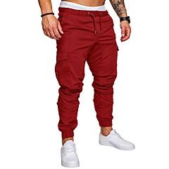 ราคาถูก -สำหรับผู้ชาย กางเกง Jogger Beam Foot สายผูก กีฬา ฤดูหนาว กางเกงวอร์ม ด้านล่าง การออกกำลังกาย ยิมออกกำลังกาย รักษาให้อุ่น ออกแบบตามสรีระ สวมใส่ได้ ขนาดพิเศษ สีพื้น / ยืด
