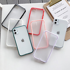 cheap -Case For Apple iPhone 11 / iPhone 11 Pro / iPhone 11 Pro Max Frosted / Transparent Back Cover Solid Colored Acrylic