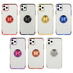 olcso -Case Kompatibilitás Apple iPhone 11 / iPhone 11 Pro / iPhone 11 Pro Max Tartó gyűrű Fekete tok Egyszínű TPU