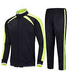 ราคาถูก -สำหรับผู้ชาย 2pcs ด้านข้างลาย streetwear Tracksuit sweatsuit ฤดูหนาว ซิปรูดด้านหน้า คอแสตนด์ วิ่ง การออกกำลังกาย วิ่งออกกำลังกาย กีฬา รักษาให้อุ่น กันลม นุ่ม เสื้อยืดและกางเกง แขนยาว ชุดทำงาน
