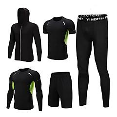 ราคาถูก -1bests สำหรับผู้ชาย 5pcs ซิปเต็มรูปแบบ Tracksuit วิ่ง การออกกำลังกาย ยิมออกกำลังกาย กีฬา Lightweight ระบายอากาศ แห้งเร็ว Sweat-wicking เสื้อแจ็คเก็ต useless ชุดออกกำลังกาย แขนยาว ชุดทำงาน
