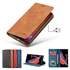 cheap -Forwenw Leather Case For iPhone11/11Pro/11ProMax/X/XS/XR/XSmax/8P/8/7P/7/6P/6 Wallet / Card Holder / Shockproof Full Body Cases Solid Colored PU Leather / TPU