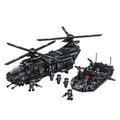 ราคาถูก -Building Blocks สำหรับเป็นของขวัญ Building Blocks รุ่นและอาคารของเล่น Fighter พลาสติค ดังกล่าวข้างต้น 6 น้ำตาล Toys