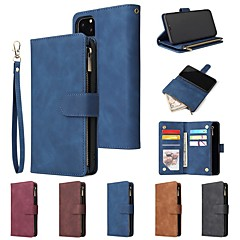 cheap -Case For iPhone 11 / iPhone 11 Pro / iPhone 11 Pro Max Wallet / Card Holder / Shockproof Multi-Function Pocket PU Leather for iPhone XS Max / XR / XS / X / iPhone 8 Plus /  iPhone 7 Plus / 6s Plus
