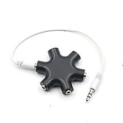 cheap -Voice Share Earphone Adapter 3.5mm Hexagon Audio distributor Headphone Splitter Extension Cord 3.5 jack Audio adapter