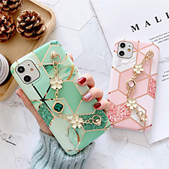 cheap -iPhone11Pro Max Early Spring Cherry Blossom Rhinestone Women's Fashion Bracelet Mobile Phone Case XS Max Half Pack Anti-fall Silicone Protective Cover 6/7 / 8Plus Protective Case