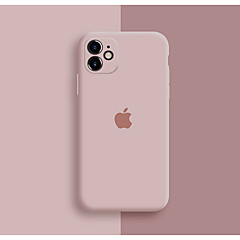 cheap -Case For Apple iPhone 11 / iPhone 11 Pro / iPhone 11 Pro Max Shockproof / Dustproof / Pattern Back Cover Playing with Apple Logo / Tile / Solid Colored Silicone / Silica Gel