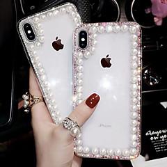 cheap -iPhone11Pro Max Pearl Diamond Mobile Phone Case XS Max Transparent Transparent Handmade 6/7 / 8Plus Case