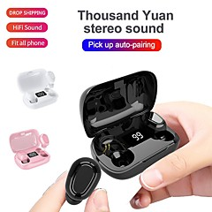 cheap -LITBest L21Pro TWS True Wireless Earbuds Wireless Bluetooth 5.0 Stereo with Microphone with Charging Box LED Power Display for Travel Entertainment