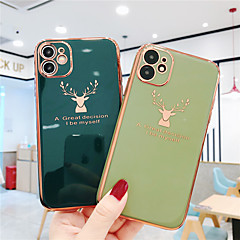 cheap -Case For Apple iPhone 11 / iPhone 11 Pro / iPhone 11 Pro Max Plating Back Cover Solid Colored TPU
