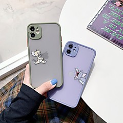 cheap -Case For APPLE  iPhone7 8 7plus 8plus  XR XS XSMAX  X SE  11  11Pro   11ProMax Transparent Naughty Cat And Mouse Back Cover Cartoon Silica Gel