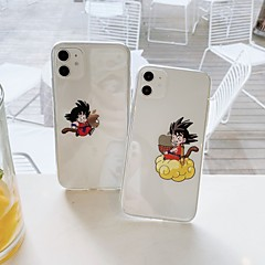 cheap -Case For Apple iPhone7 8 7plus 8plus XR XS XSMAX  X SE 11 11Pro 11ProMax Cartoon TPU Translucent Back Cover Playing with Apple Logo