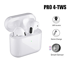 cheap -LITBest AirPods Pro4 TWS True Wireless Earbuds Bluetooth 5.0 with Charging Box Automatic Ear Detection Rename GPS Find My Devices (iOS) Voice Control Hey Siri Sports Handsfree Headset for Smart Phones