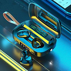 povoljno -litbest m13 tws bežične slušalice bluetooth 5.0 ušice za uši sa lampom ogledalo sat subwoofer slušalice led monitor duboki vodootporni power bank 2000mah punjač slušalica za glazbu igara