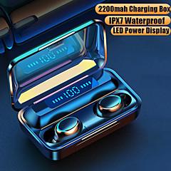tanie -imosi f9-6s tws true bezprzewodowe słuchawki douszne bluetooth stereo połączenie obuuszne sterowanie dotykowe słuchawki z przełącznikiem magnetycznym large capcity pudełko do ładowania power bank led