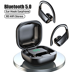 cheap -LITBest B12 TWS Wireless Headphones Bluetooth 5.0 Earphones 9D Hifi Stereo Sports Waterproof Headphone LED Display Earphone Ear Hook Headset