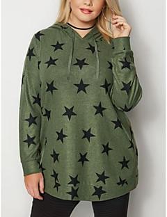 cheap -Women's Plus Size Daily Pullover Hoodie Sweatshirt Geometric Casual Hoodies Sweatshirts  Loose Red Green Gray