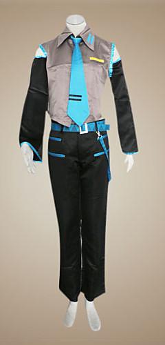 abordables -Inspiré par Vocaloid Hatsune Miku / Mikuo Vidéo Jeu Costumes de Cosplay Costumes Cosplay Mosaïque Sans Manches Chemise Pantalon Manche Les costumes / Satin