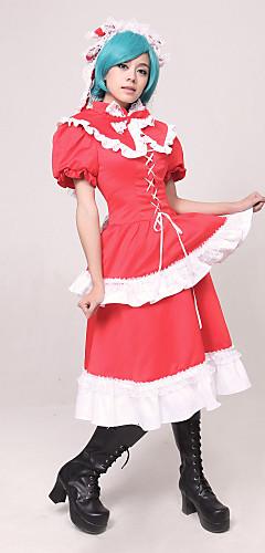 abordables -Inspiré par Touhou Project Hina Kagiyama Vidéo Jeu Costumes de Cosplay Costumes Cosplay Mosaïque Haut Les costumes