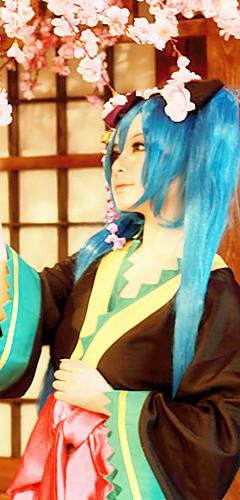 abordables -Inspiré par Vocaloid Miku Vidéo Jeu Costumes de Cosplay Costumes Cosplay / Kimono Veste Kimono Les costumes