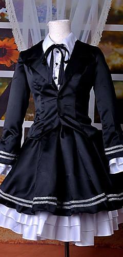abordables -Inspiré par Vocaloid Hatsune Miku Vidéo Jeu Costumes de Cosplay Costumes Cosplay Robes Rétro Manches Longues Chemisier Robe Smoking