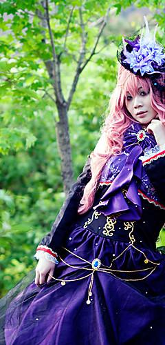 abordables -Inspiré par Vocaloid Megurine Luka Vidéo Jeu Costumes de Cosplay Costumes Cosplay Mosaïque Haut Les costumes