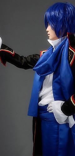 abordables -Inspiré par Vocaloid Kaito Vidéo Jeu Costumes de Cosplay Costumes Cosplay Mosaïque Manches Longues Chemise Pantalon Accessoires de taille Les costumes / Manteau / Echarpe / Manteau / Echarpe / Satin