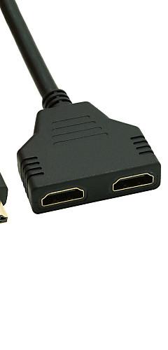 preiswerte -vergoldete HDMI v 1.4 Stecker auf Dual-HDMI zum weiblichen Adapter-Splitter-Kabel