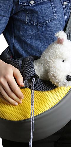 رخيصةأون -قط كلب الحاملة حقائب تحمل على الظهر وللسفر حقيبة الكتف حقائب الكتف حبال المحمول متنفس لون سادة قماش كلب صغير أرجواني أصفر زهري