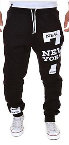 abordables -Homme Sportif Actif Sports Fin de semaine Ample Joggings Pantalon Lettre Cordon Noir / Rouge Blanche Noir M L XL
