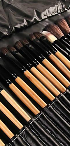 billige -Profesjonell Makeup børster Børstesett 32pcs Økovennlig Full Dekning Kunstig fiber børste Tre Sminkebørster til