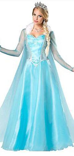 povoljno -Princeza Cinderella Movie & TV Theme Costumes Haljine Cosplay Nošnje Žene Halloween Festival / Praznik Terilen Žene Karneval kostime Kolaž / Haljina / Haljina