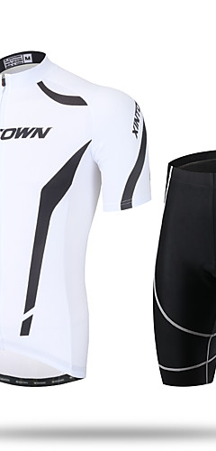cheap -Men's Short Sleeve Cycling Jersey with Shorts Bike Shorts Pants / Trousers Jersey Breathable 3D Pad Quick Dry Ultraviolet Resistant Reflective Strips Sports Spandex Coolmax® Mesh Novelty Clothing