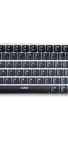 preiswerte -AJAZZ Geek AK33 USB verkabelt mechanische Tastatur Gaming-Tastatur Mini leuchtend Weiße Hintergrundbeleuchtung 82 pcs Schlüssel