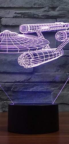preiswerte -7 Farbwechsel 3d Trek Star schlacht Lichter bunte LED dekorative Leuchten visuelle Atmosphäre Touch-Schalter leuchtet