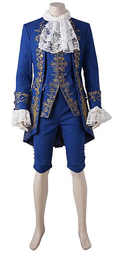 economico -Principe Fiabe Costumi Cosplay Vestito da Serata Elegante Per uomo Halloween Carnevale Feste / vacanze Blu Per uomo Costumi carnevale Vintage