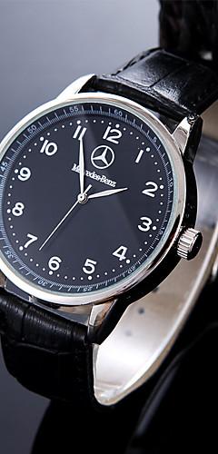 ราคาถูก -สำหรับผู้ชาย นาฬิกาแนวสปอร์ต นาฬิกาข้อมือ นาฬิกาอิเล็กทรอนิกส์ (Quartz) หนัง ดำ / น้ำตาล กันน้ำ Creative ระบบอนาล็อก เสน่ห์ คลาสสิก ไม่เป็นทางการ แฟชั่น สง่างาม - ขาว สีดำ / หนึ่งปี / สแตนเลส