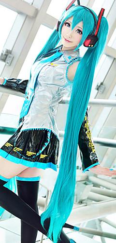 abordables -Vocaloid Hatsune Miku Perruques de Cosplay Femme Avec 2 queues de cheval 48 pouce Fibre résistante à la chaleur Perruque Anime